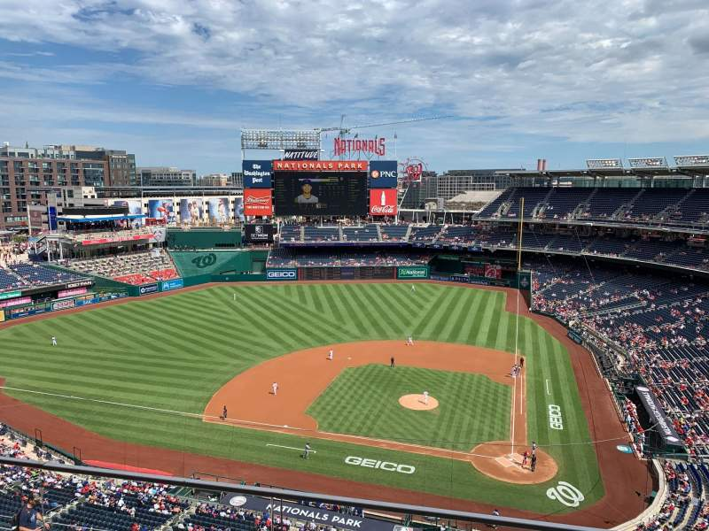 Seating view for Nationals Park Section 409 Row B Seat 1