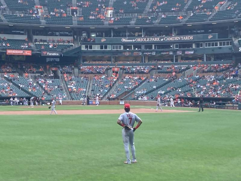 Seating view for Oriole Park at Camden Yards Section 84 Row 1 Seat 7