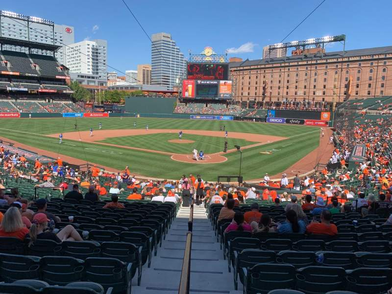 Seating view for Oriole Park at Camden Yards Section 38 Row 23 Seat 1