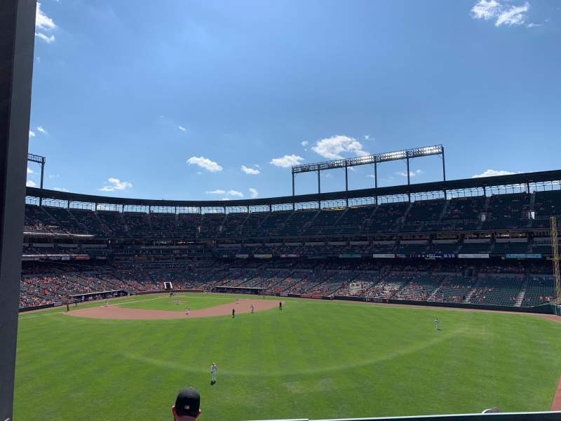 Seating view for Oriole Park at Camden Yards Section ROOF Row ADECK