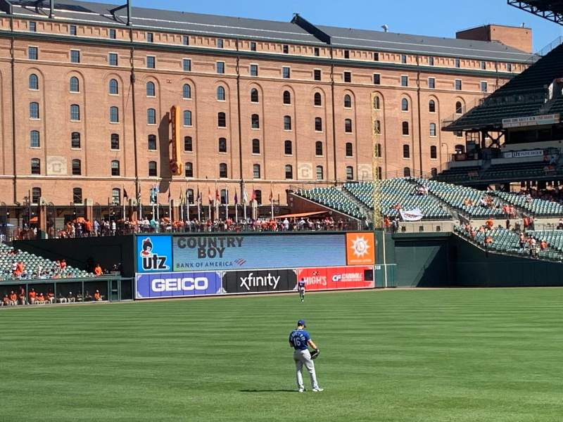 Seating view for Oriole Park at Camden Yards Section 76 Row 3 Seat 5