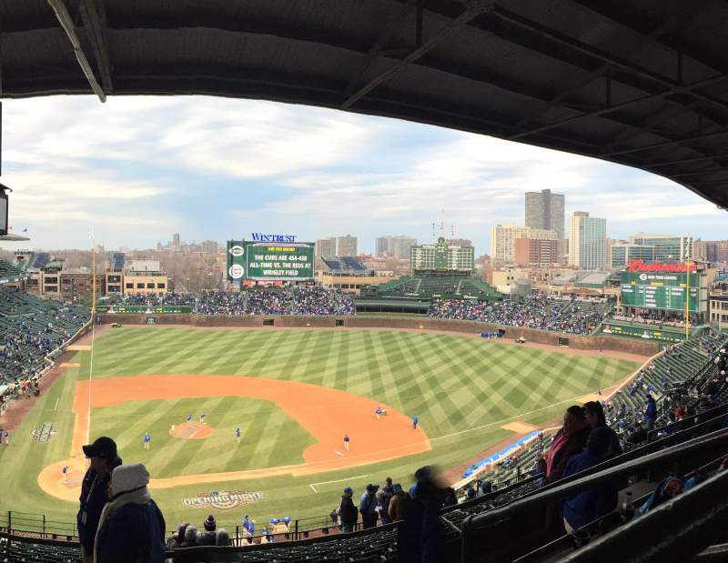 Seating view for Wrigley Field Section 525 Row 3 Seat 3