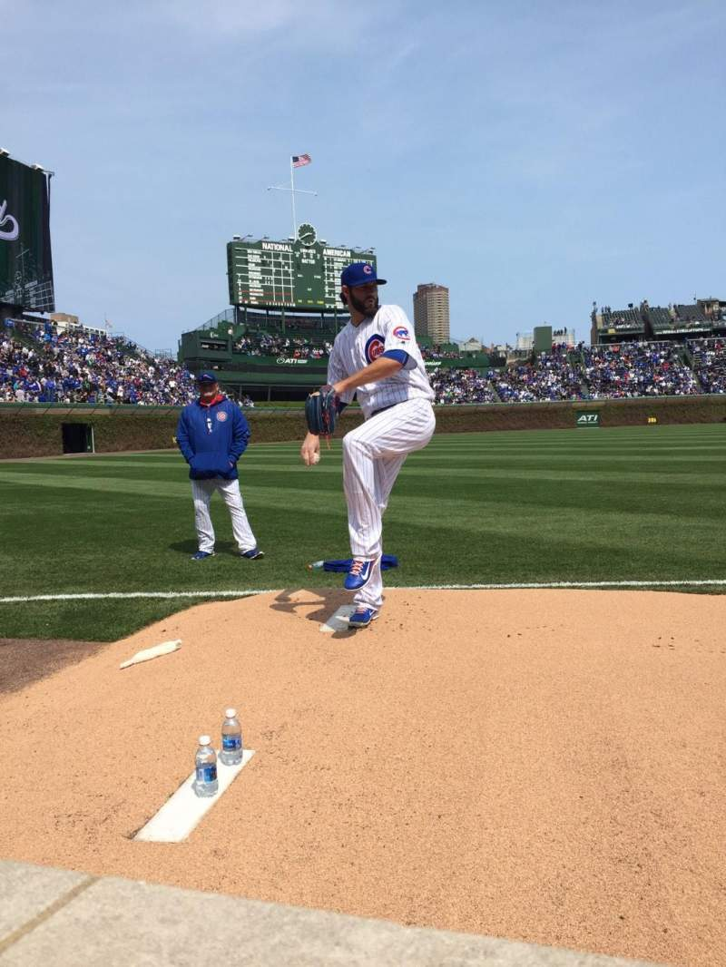 Wrigley Field, section: 6, row: 1, seat: 102