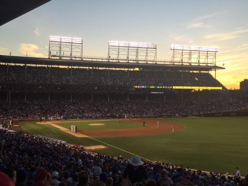 Seating view for Wrigley Field Section 240 Row 18 Seat 1