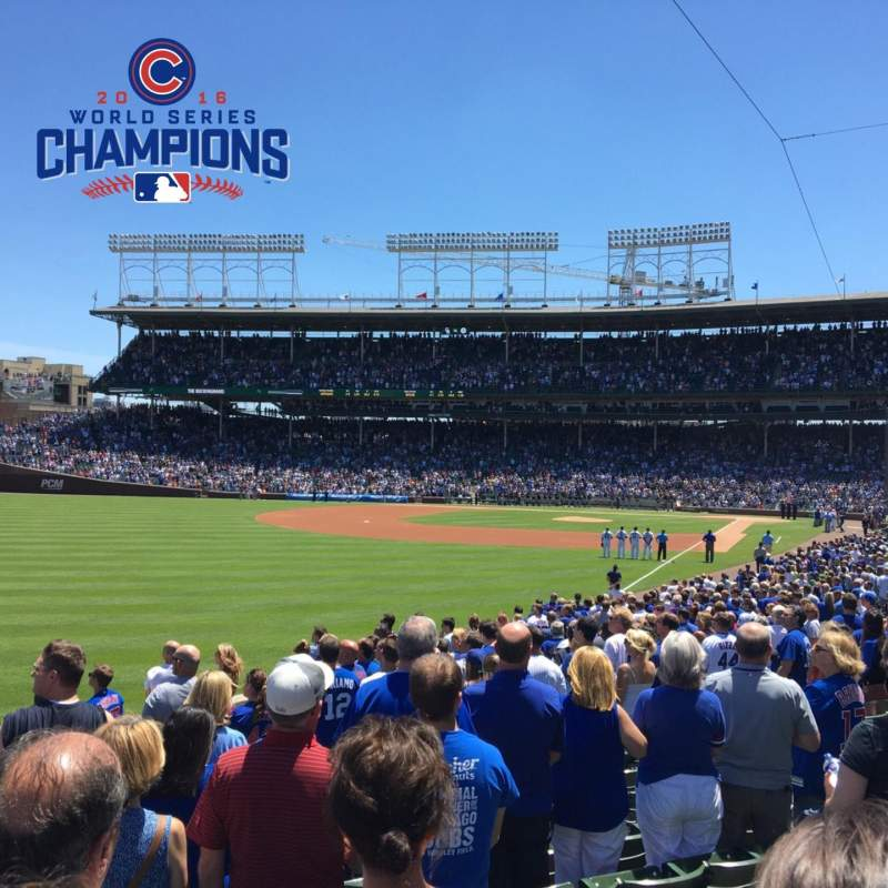 Wrigley Field, section: 101, row: 15, seat: 5