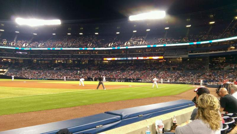Seating view for Turner Field Section 122R Row 2 Seat 11