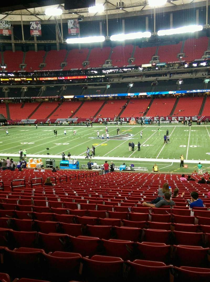Seating view for Georgia Dome Section 134  Row 33 Seat 13