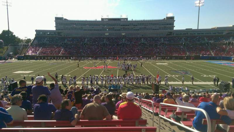 Seating view for Gerald J. Ford Stadium Section 124 Row 23 Seat 2