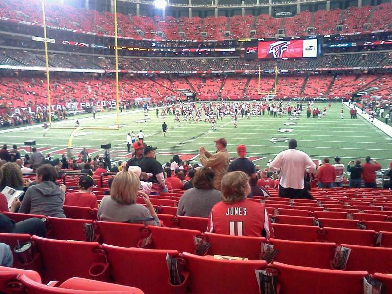 Seating view for Georgia Dome Section 124 Row 19 Seat 7
