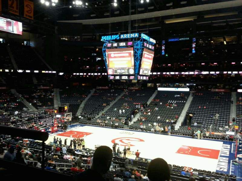 Seating view for Philips Arena Section 210 Row A Seat 3