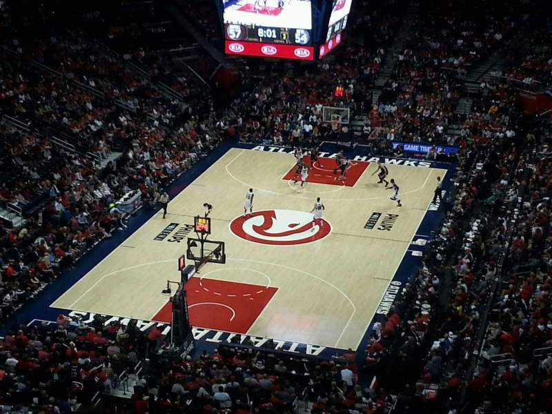 Seating view for Philips Arena Section 317 Row S Seat 11