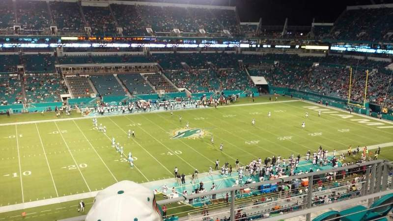 Seating view for Hard Rock Stadium Section 321 Row 6 Seat 13