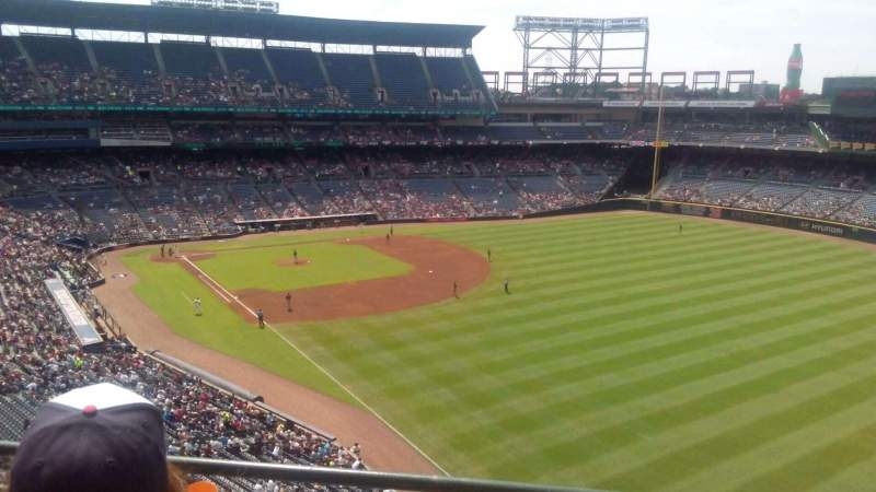 Seating view for Turner Field Section 425 Row 2 Seat 6