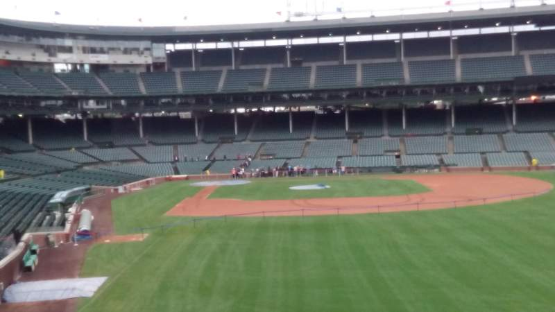 Seating view for Wrigley Field Section 313