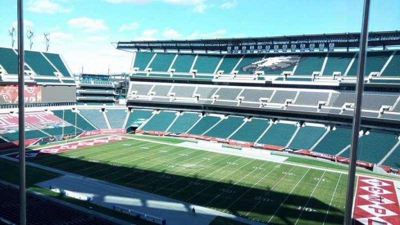 Seating view for Lincoln Financial Field Section Suite