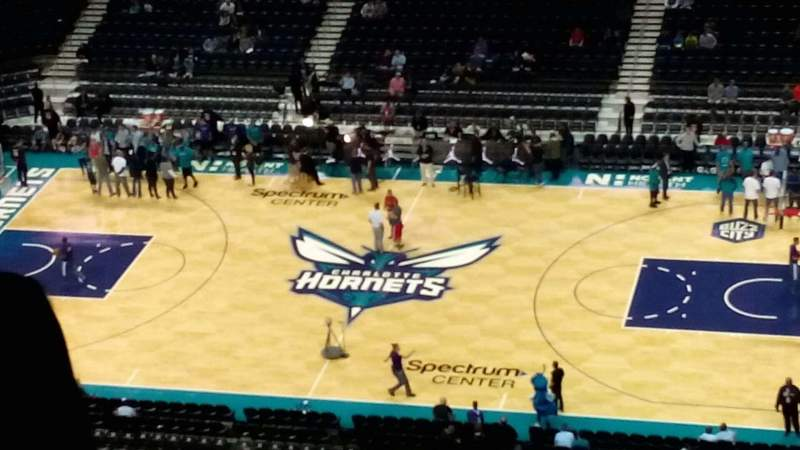 Seating view for Spectrum Center Section 224 Row R Seat 12