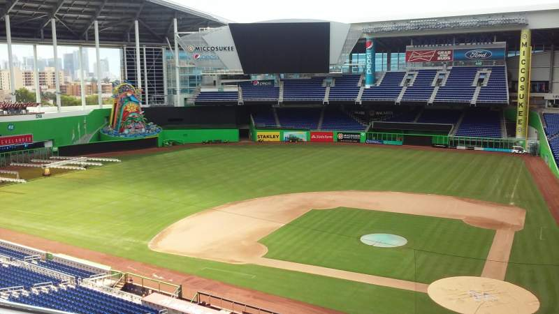 Seating view for Marlins Park Section Suite