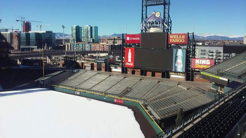 Seating view for Coors Field Section L305