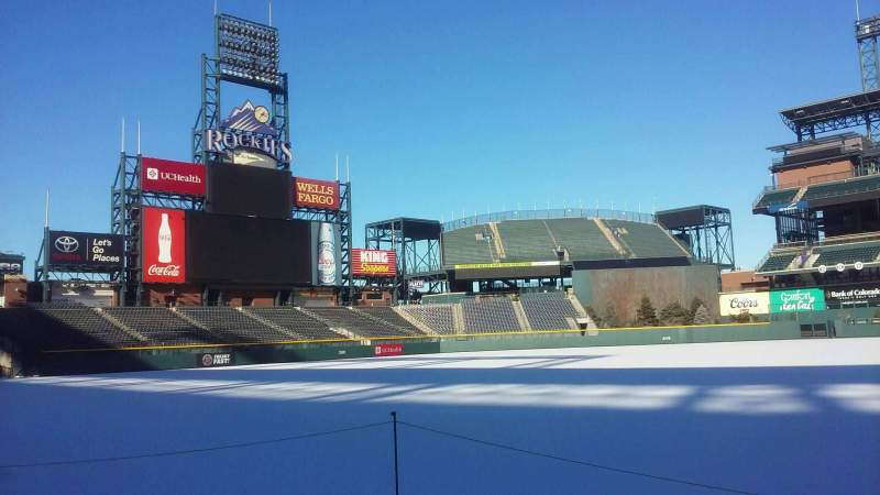 Seating view for Coors Field Section 139 Row 1