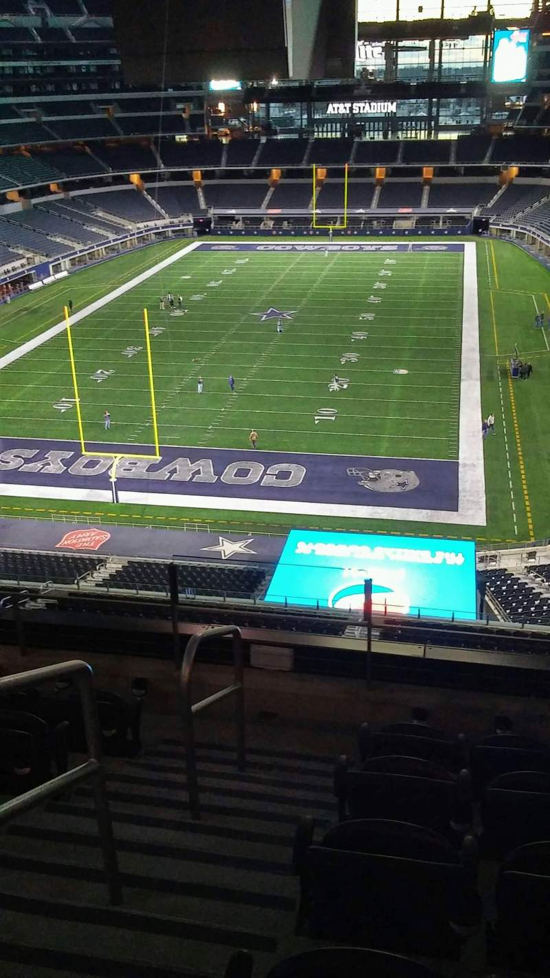 Seating view for AT&T Stadium Section 345 Row 5