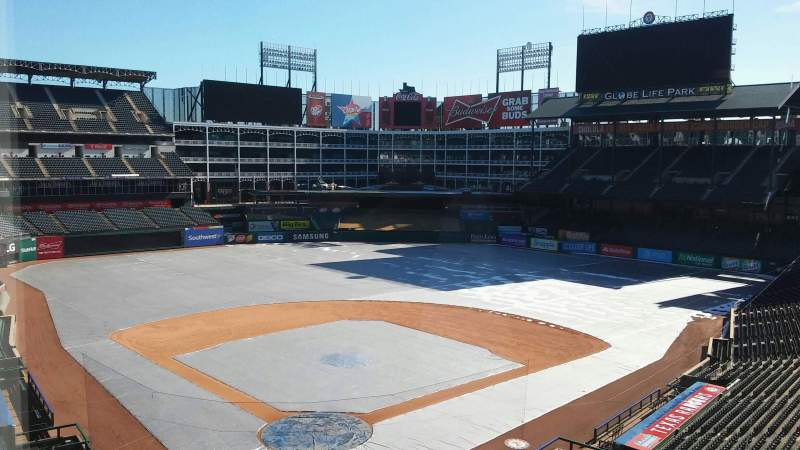 Seating view for Globe Life Park in Arlington Section Press Box