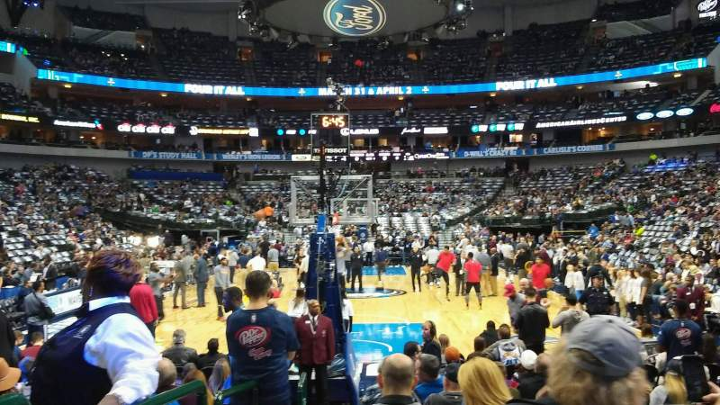 Seating view for American Airlines Center Section 112 Row A Seat 12