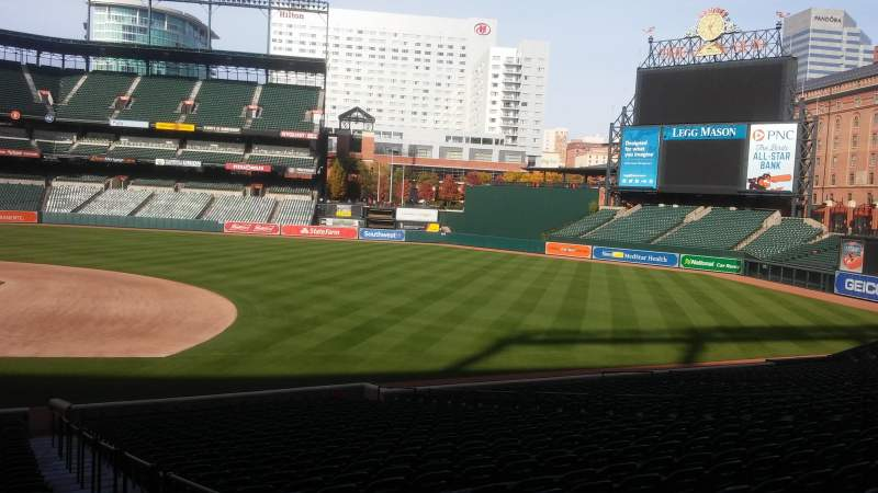 Seating view for Oriole Park at Camden Yards Section 20 Row 29 Seat 1