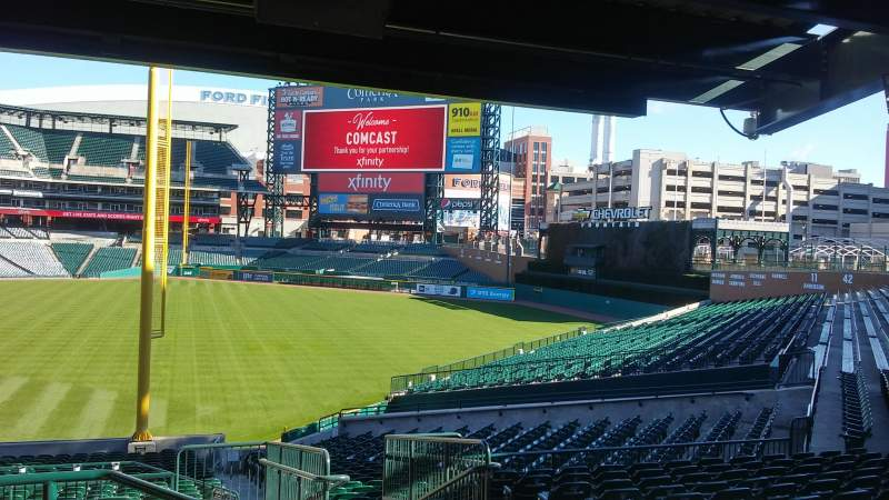Seating view for Comerica Park Section 108