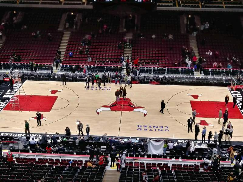 Seating view for United Center Section 334 Row 9 Seat 15