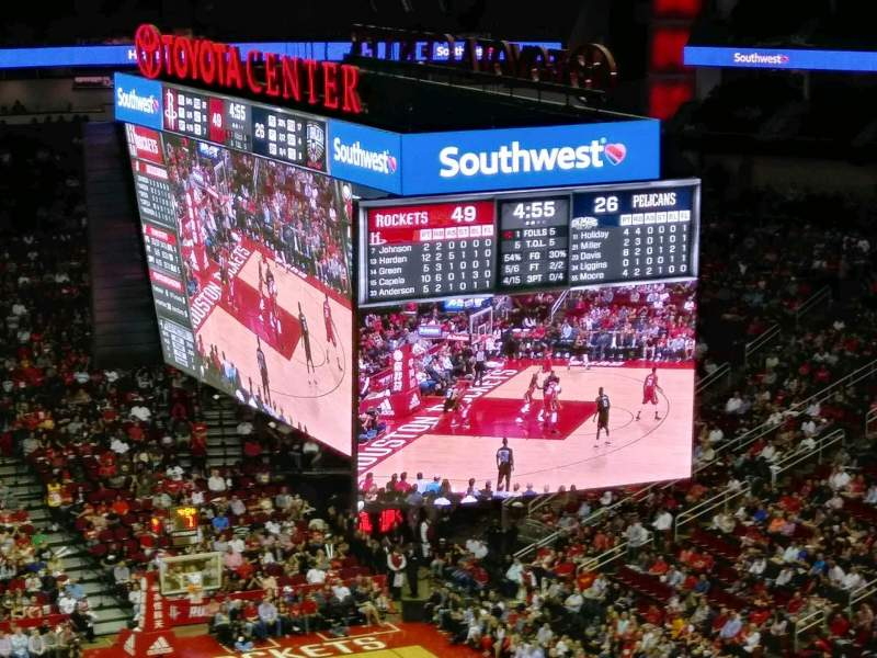Seating view for Toyota Center Section 420 Row 13 Seat 17