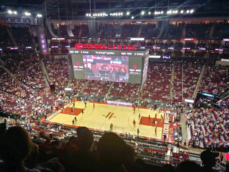 Toyota Center, section: 408, row: 5, seat: 8