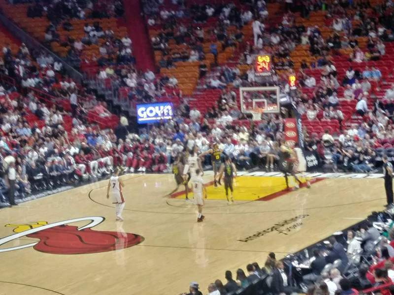 Seating view for American Airlines Arena Section 122 Row 27 Seat 10
