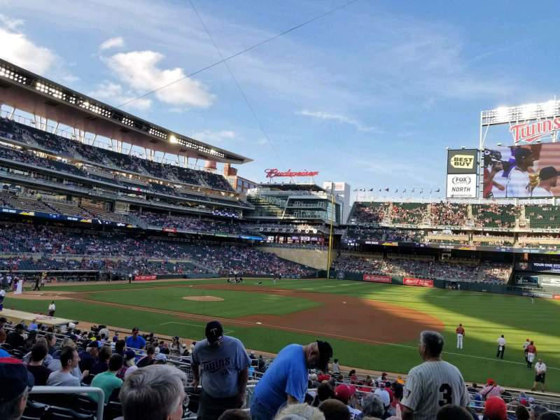 Seating view for Target Field Section 106 Row 11 Seat 14