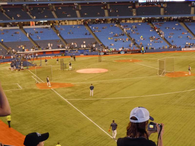 Seating view for Rogers Centre Section 210R Row 5 Seat 4