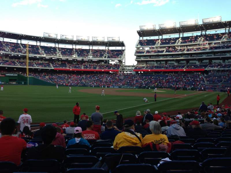 Seating view for Nationals Park Section 109 Row T Seat 13