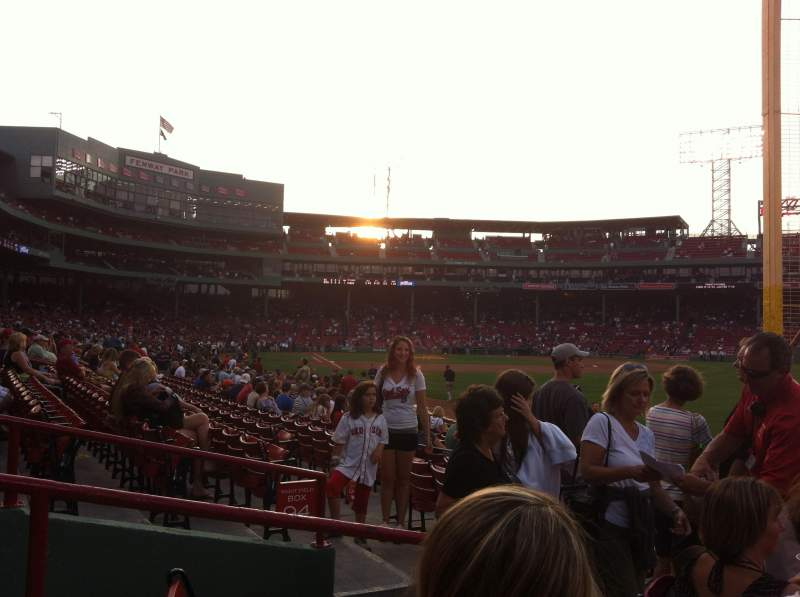 Seating view for Fenway Park Section Right Field Box 93 Row GG