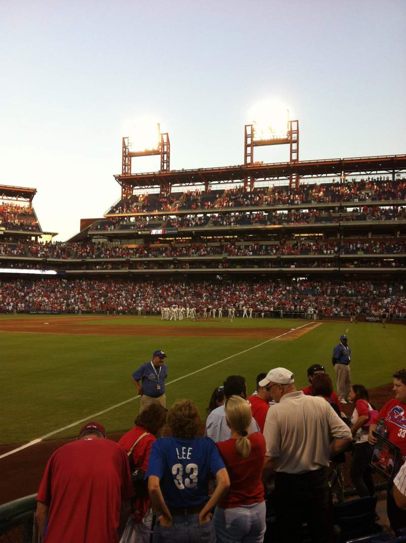 Seating view for Citizens Bank Park Section 138 Row 7