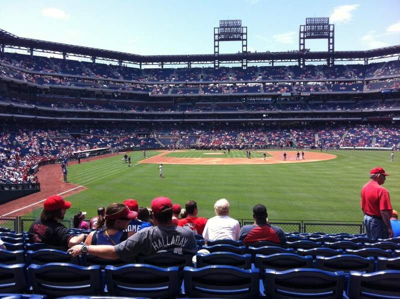 Seating view for Citizens Bank Park Section 105 Row 11