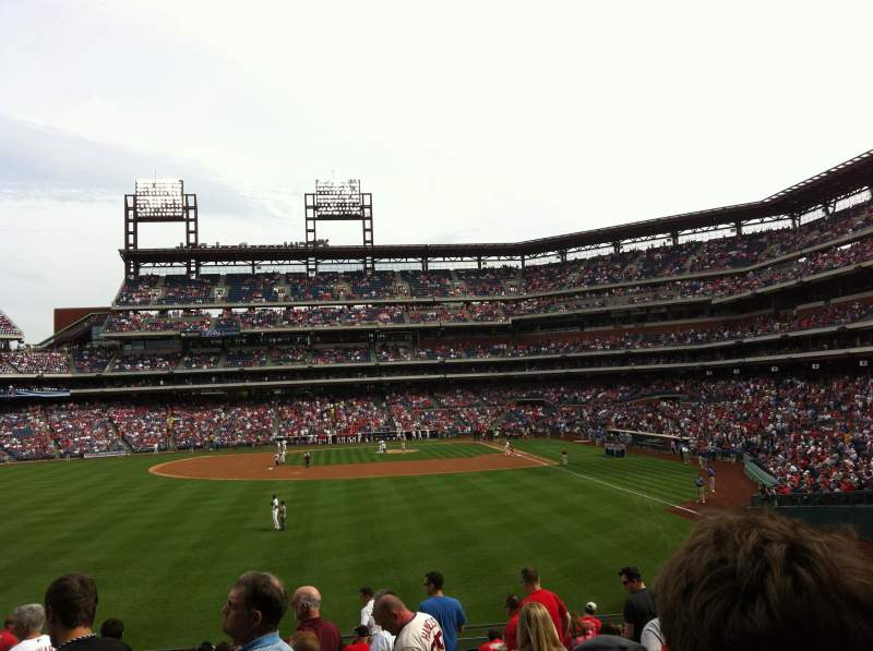 Seating view for Citizens Bank Park Section 143 Row 18 Seat 1