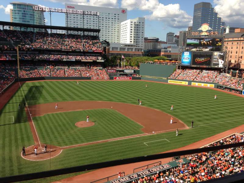 Seating view for Oriole Park at Camden Yards Section 328 Row 1 Seat 13