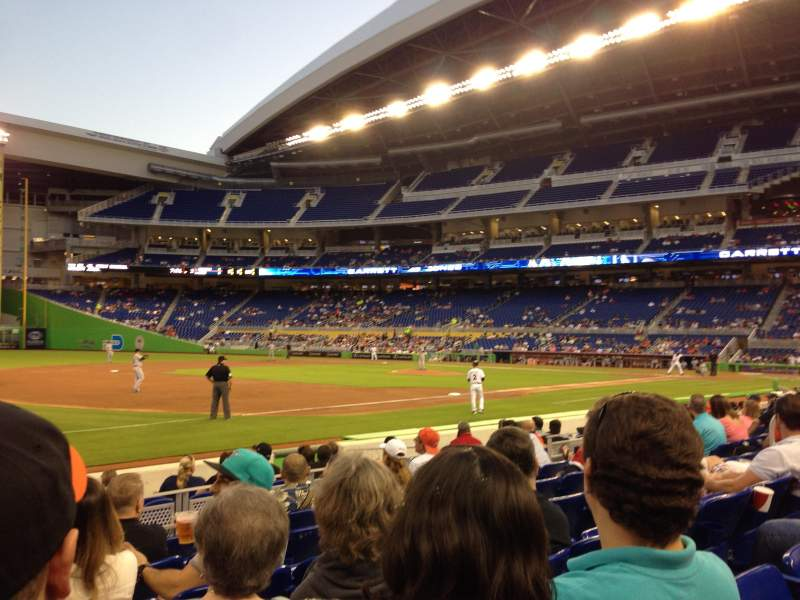 Seating view for Marlins Park Section 23 Row F Seat 8