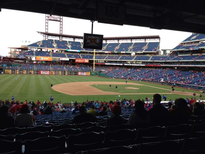 Seating view for Citizens Bank Park Section 133 Row 40 Seat 15