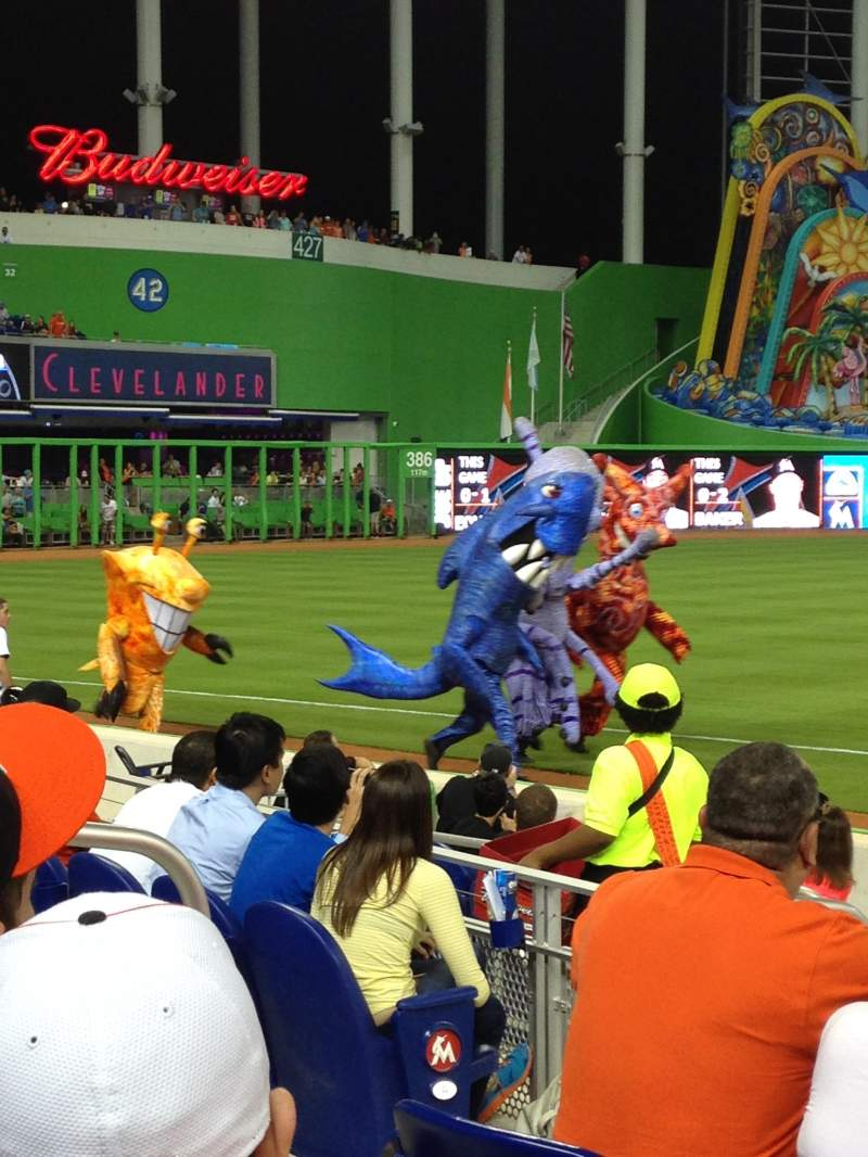 Seating view for Marlins Park Section 23 Row F Seat 14