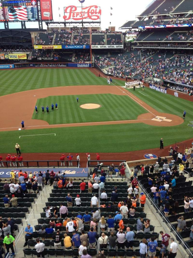 Seating view for Citi Field Section 326 Row 1 Seat 13