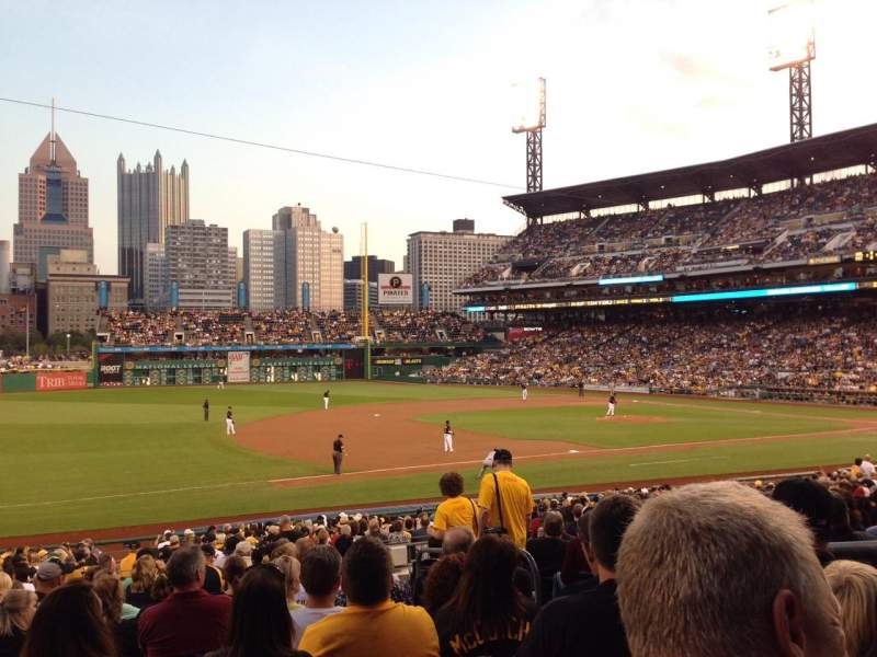 Seating view for PNC Park Section 127 Row R Seat 5