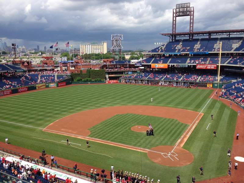Seating view for Citizens Bank Park Section 323 Row 2 Seat 7