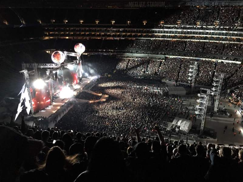 MetLife Stadium, section 337, row 26, seat 14 - Metallica ...
