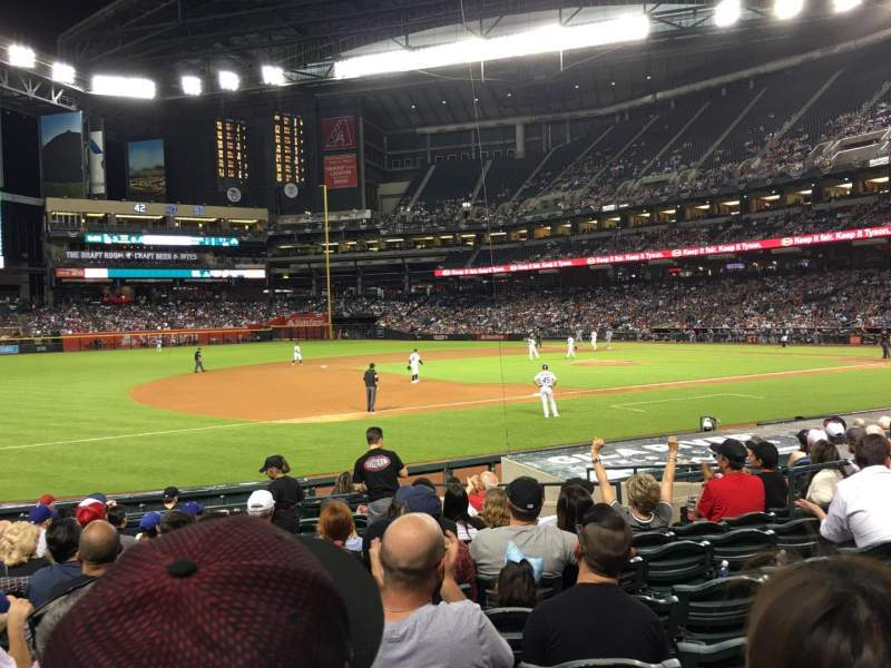Chase Field, section: 130, row: 16, seat: 9