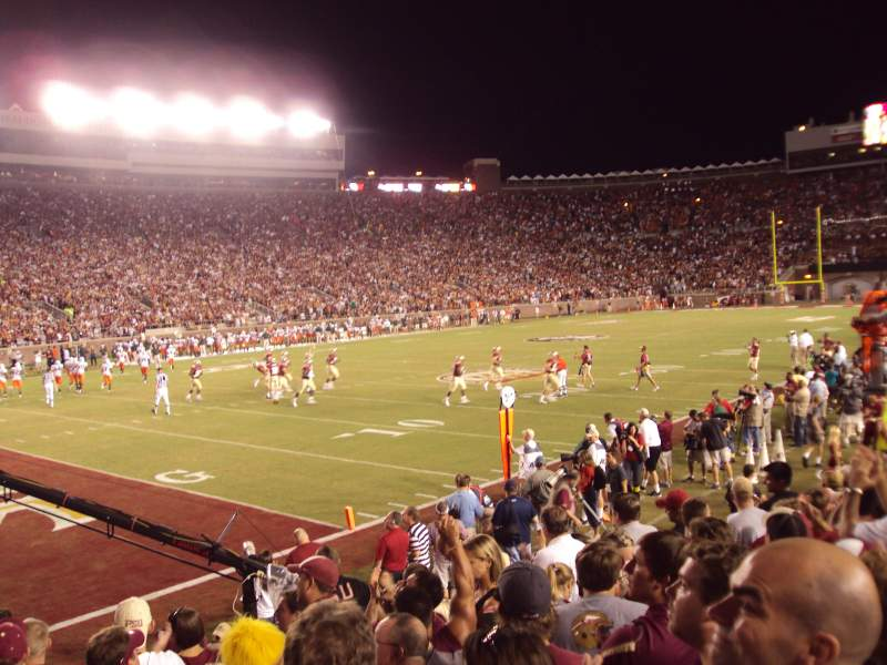 Seating view for Bobby Bowden Field at Doak Campbell Stadium Section 38 Row 9 Seat 5-6