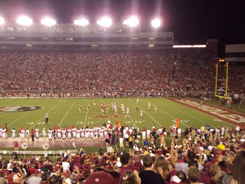 Seating view for Bobby Bowden Field at Doak Campbell Stadium Section 8 Row 31 Seat 27-28